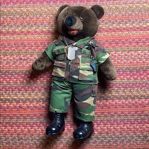 1989 VINTAGE ARMY PATRIOT TEDDY BEAR COLLECTIBLE